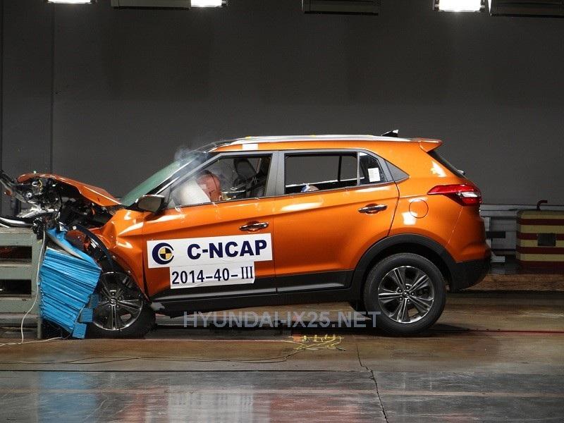 Краш-тест Hyundai Creta фронтальный удар с 40% перекрытием