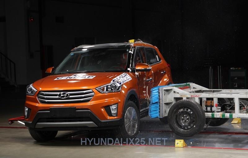 Краш-тест Hyundai Creta боковой удар