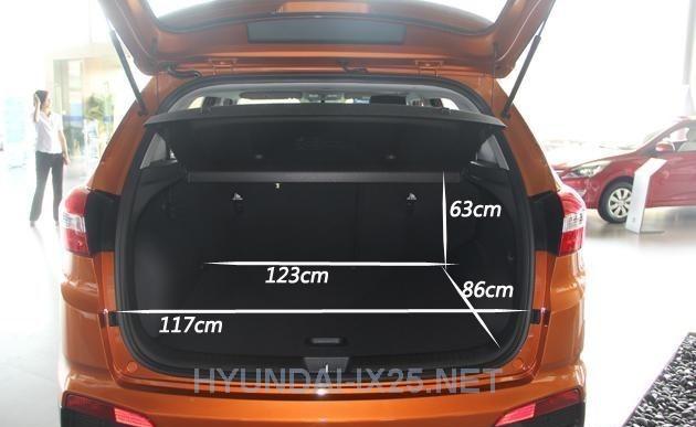 Размеры багажного отделения Creta - Фотографии Hyundai Creta